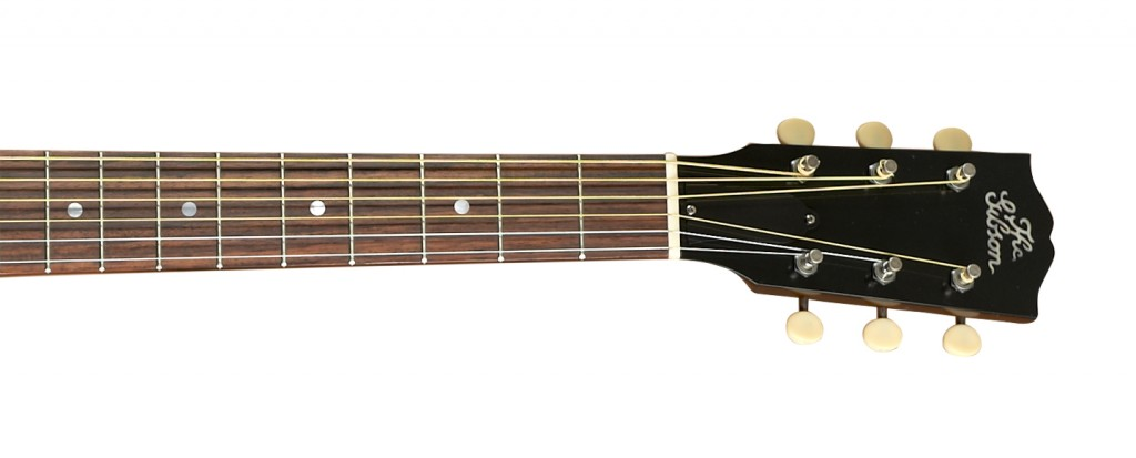 The Gibson - 1928 L-1 Blues Tribute acoustic guitar headstock tuning pegs fretboard