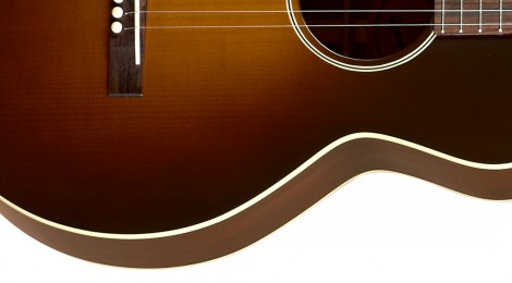 The Gibson - 1928 L-1 Blues Tribute acoustic guitar lower half